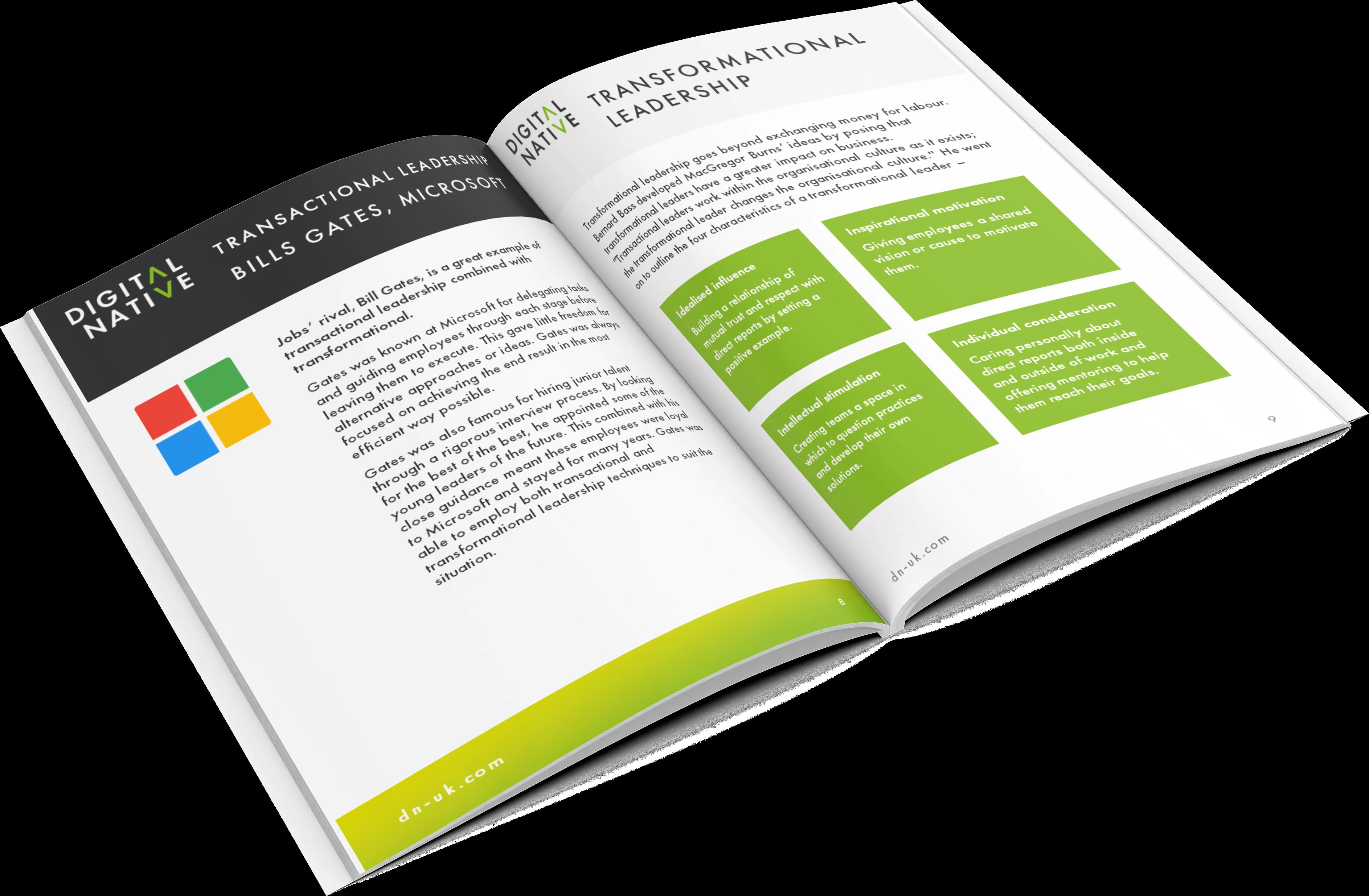 Transactions vs Transformational Leadership Mockup